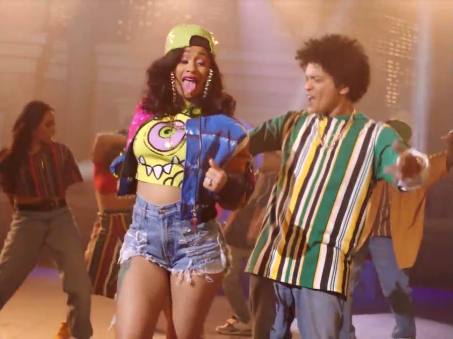 Young Hollywood Bruno Mars Cardi B Channel Their Inner 90s Kid