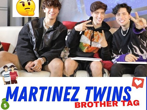 Martinez Twins Reveal Their Celebrity Crushes in Brothers Tag