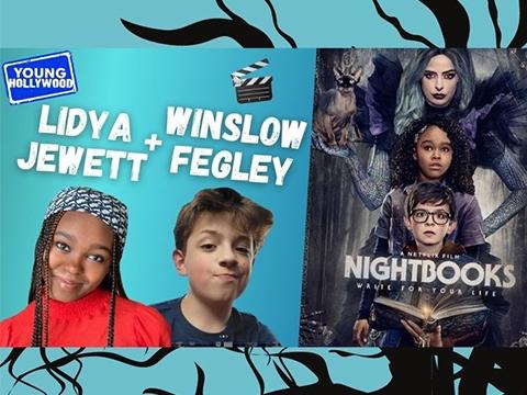 Scary Stories & Halloween Costumes with Nightbooks Stars Winslow Fegley & Lidya Jewett